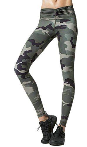 71c409d00e JCOE Yoga Yayu Womens Running Stretch Skinny Print Slim Sport Pants Legging