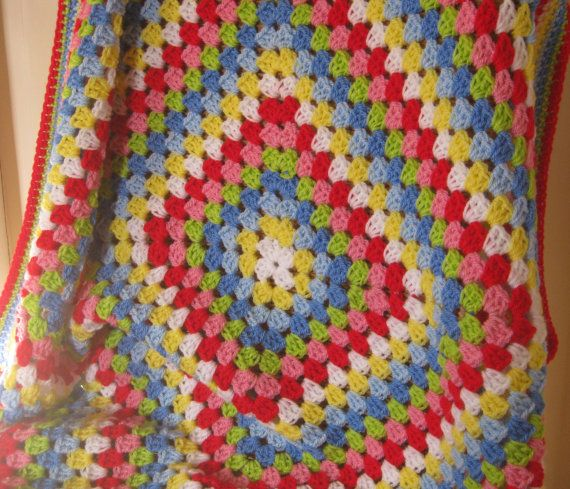 Crochet Granny Square Blanket Afghan Cath Kidston by Thesunroomuk, £43.00