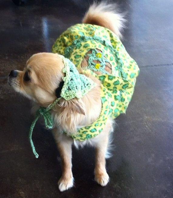 animal print beach dress for teacup doggie with by CuteDoggieGarbs