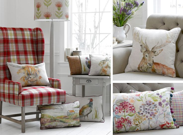 Voyage Mason for beautiful cushions, lampshades and chairs in our bedrooms. http://www.lynwood-house.co.uk