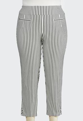 d2adcb3cba7514 Plus Size Stripe Bengaline Pants Ankle Pants Cato Fashions en 2019 ...
