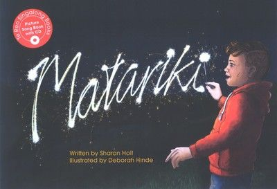 The newest book in the popular award winning Te Reo Singalong series follows a family through their Matariki celebrations over the course of a day. Each Te Reo Singalong book includes a song CD, English translation, guitar chords and extension ideas. This book also includes information about Matariki.