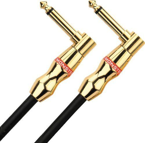 """Monster Rock Instrument Cable - 18-Inch - Angled 1/4-Inch Plugs by Monster. $16.96. 18 in. - angled 1/4"""" plugs"""