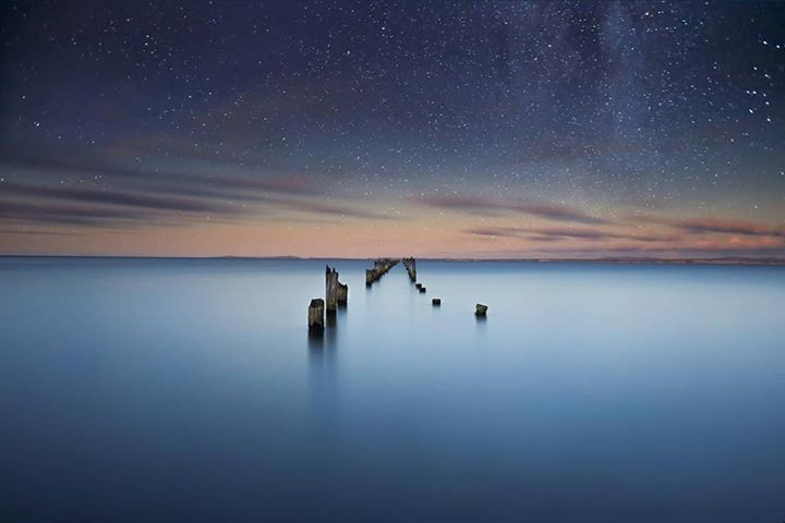 The old jetty at Bridport under the stars. Image sent in by Tayla Jayne Images