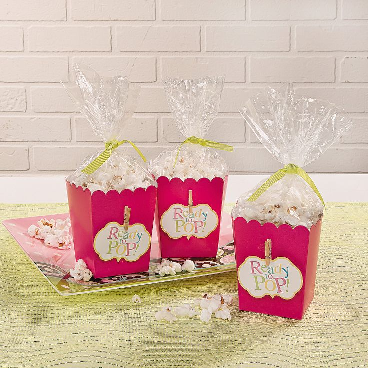 Baby Shower Favor Boxes Pinterest : Ready to pop popcorn boxes with printable template