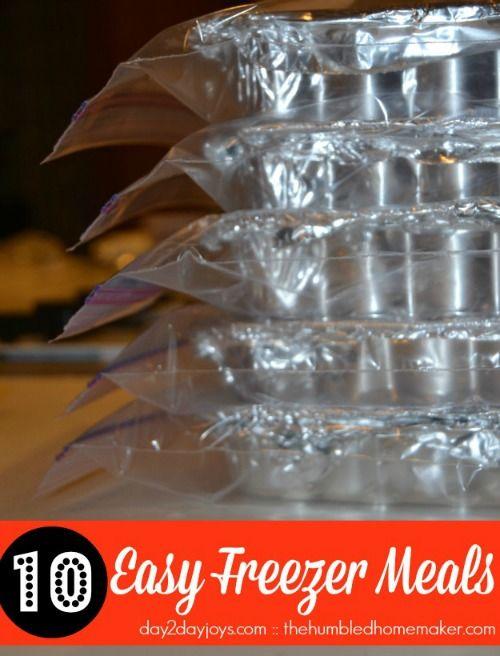 10 Easy Freezer Meals - TheHumbledHomemaker.com