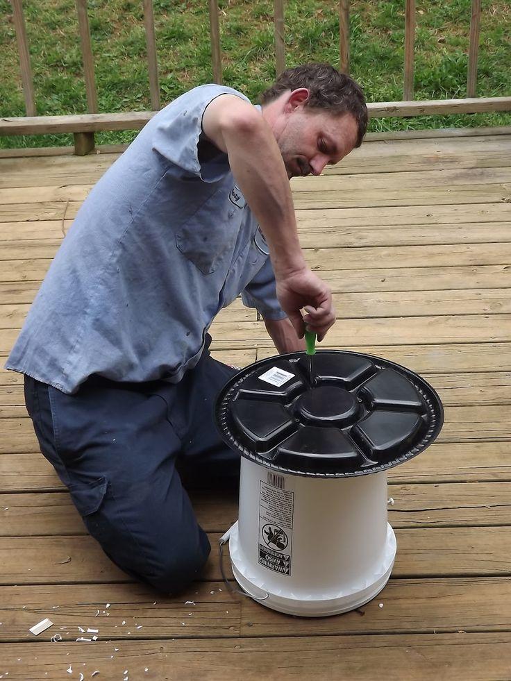 DIY Chicken Waterer | God is good !: Homemade chicken feeder :)