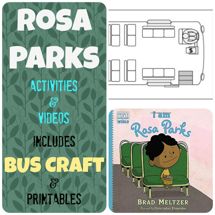 Rosa Parks Bus Story: Videos and Activities #KidsCreativeChaos