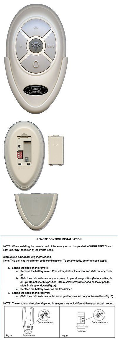 Lighting Parts and Accessories 20705: Harbor Breeze Fan35t Remote With Wall Mount For Harbor Breeze Ceiling Fans - Kuj -> BUY IT NOW ONLY: $85.18 on eBay!