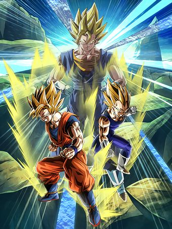 [Super Powered Fusion] Super Saiyan Goku & Super Saiyan Vegeta/Dragon Ball Z: Dokkan Battle