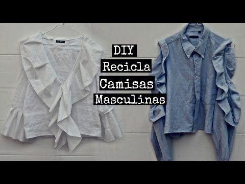 DIY New shirts using man's shirts - YouTube