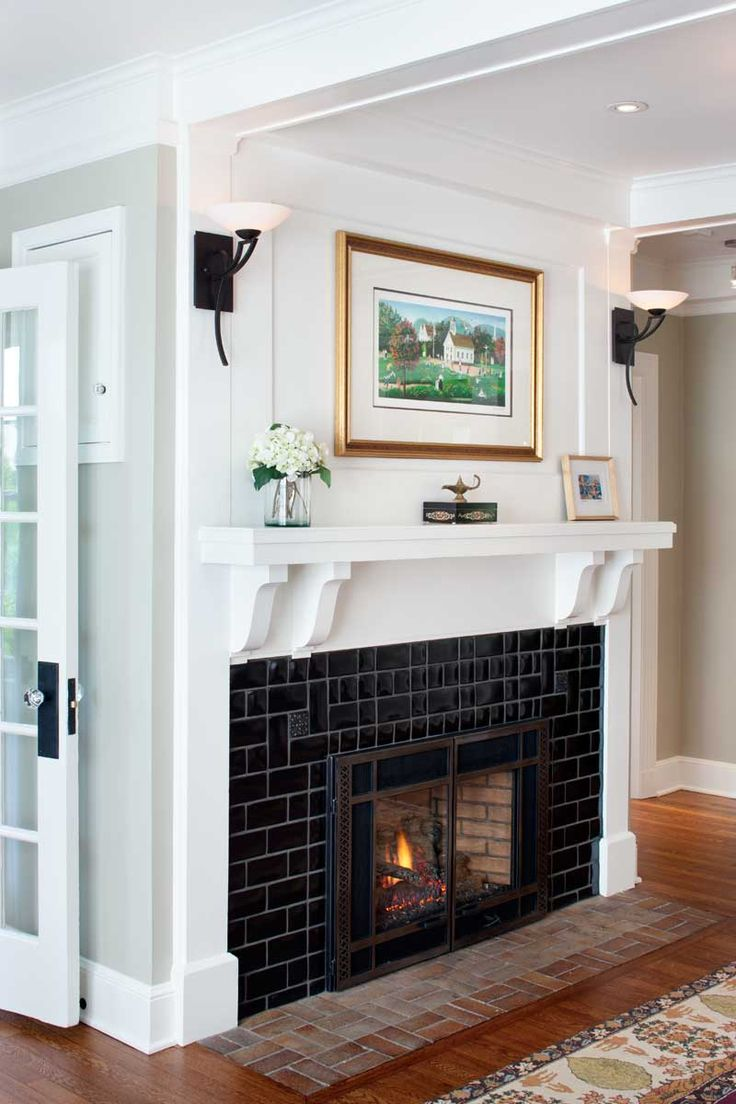21 best arts crafts fireplaces images on pinterest for Craftsman fireplaces photos