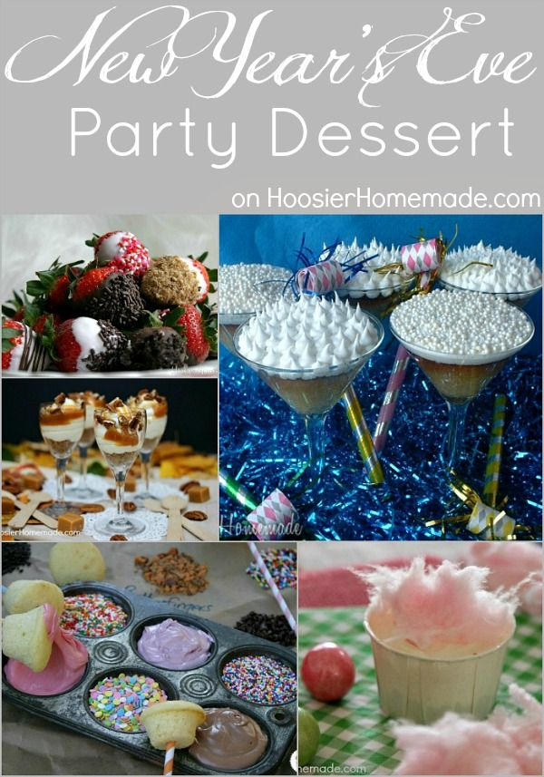 New Year's Eve Party Dessert on HoosierHomemade.com