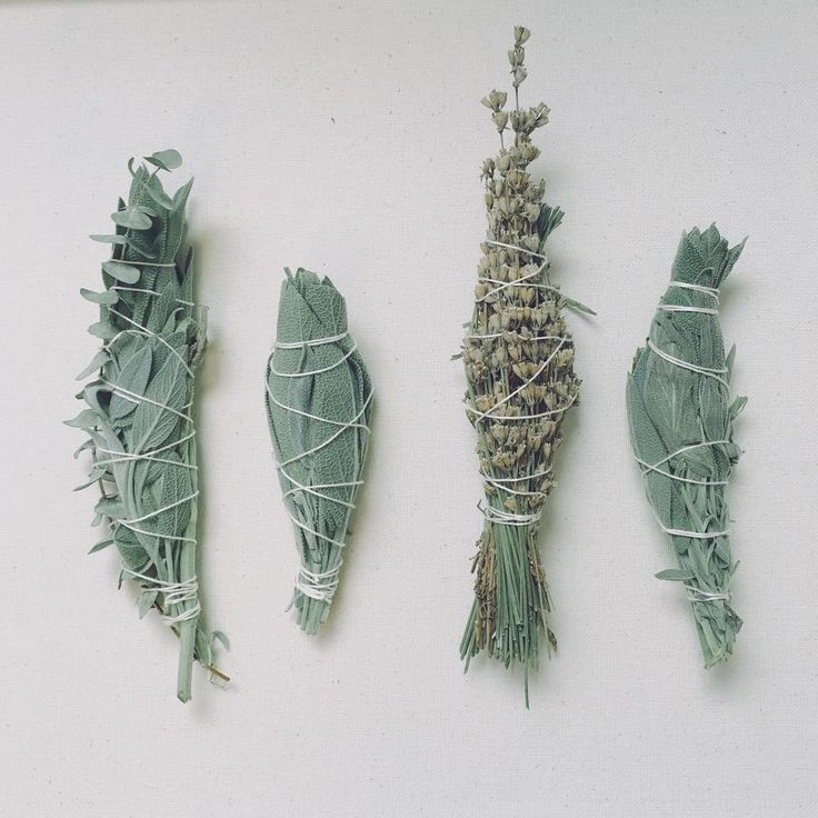 assorted handmade smudge sticks / dried herb bundles  #sage #lavender #smudgesticks #sagebundle #boho #gypsy