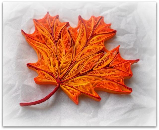 Autumn Leaf Paper Quilling