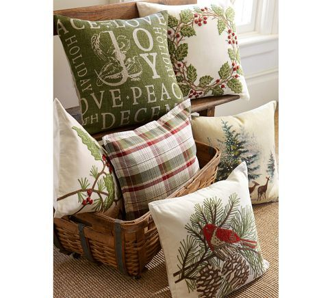 pottery barn christmas pillows Don't Disturb This Groove: Pottery Barn Inspired: Holly Berry  pottery barn christmas pillows