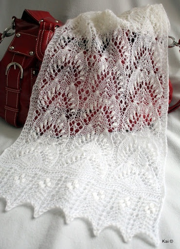 Traditional estonian lace pattern, my handknitted shawl