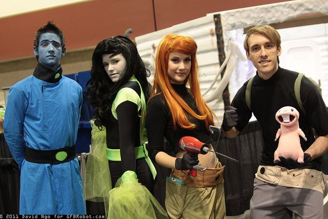 Dr. Drakken, Shego, Kim Possible, Ron Stoppable, and Rufus by DTJAAAAM, via Flickr