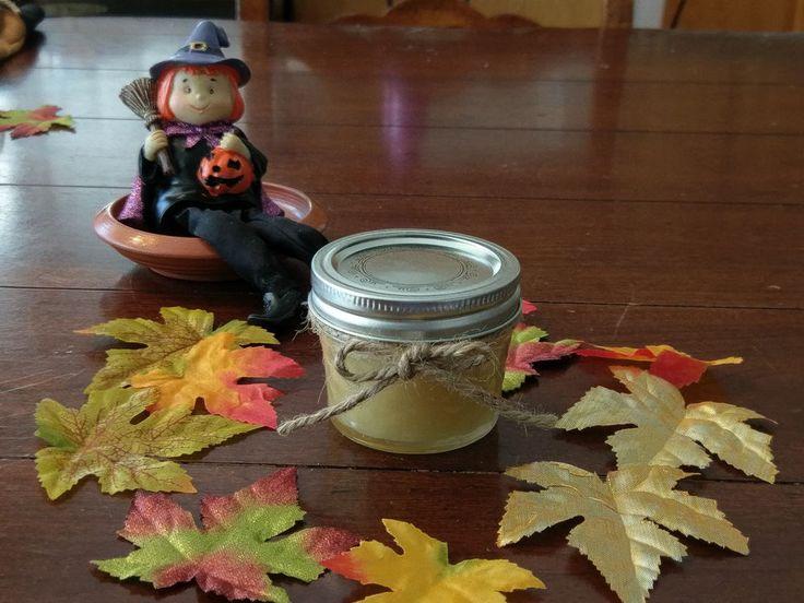 Handmade 100% Natural Beeswax Candle in 4oz Glass Kerr Jar #CinnaBeeHandmade
