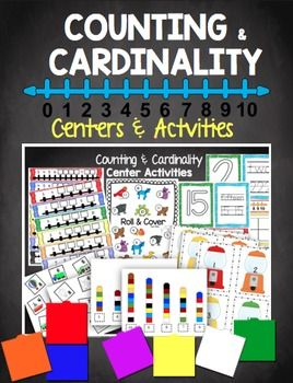Counting and Cardinality Kindergarten Math Centers - we love these for math tubs and teaching numbers 1-20 in a hands on way.  So many activities are included for the entire Common Core unit!