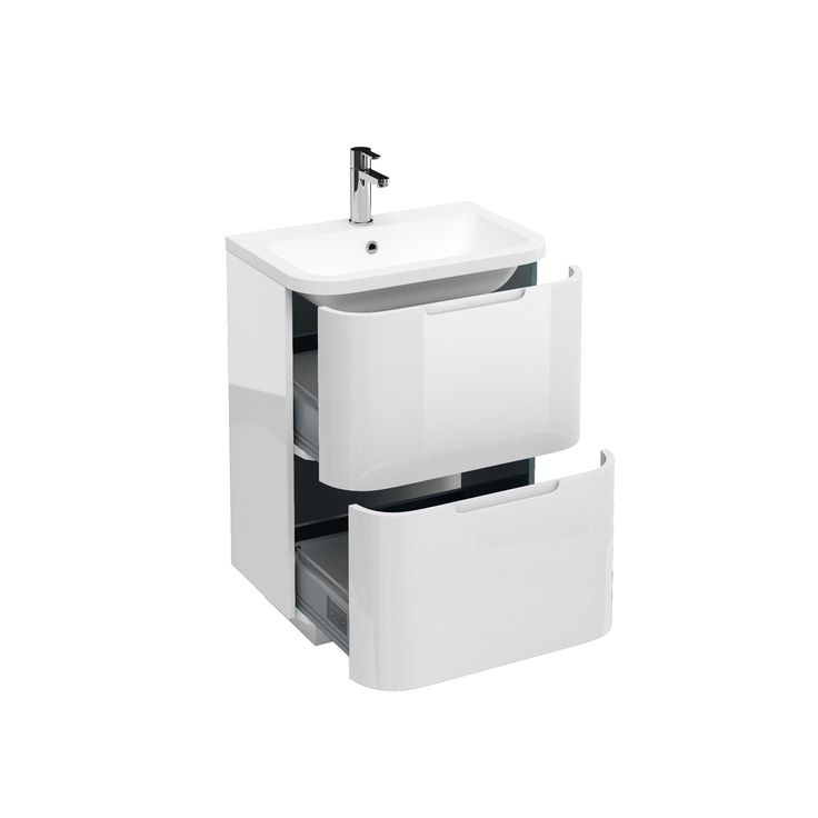 Bathroom Floor Standing Vanity Units : Aqua cabinets compact mm floor standing vanity unit
