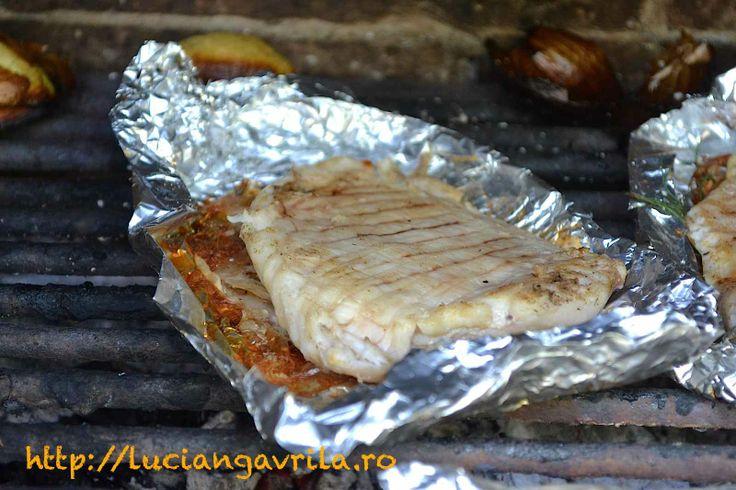 Grilled #Catfish fillet Filé de somn pe grătar