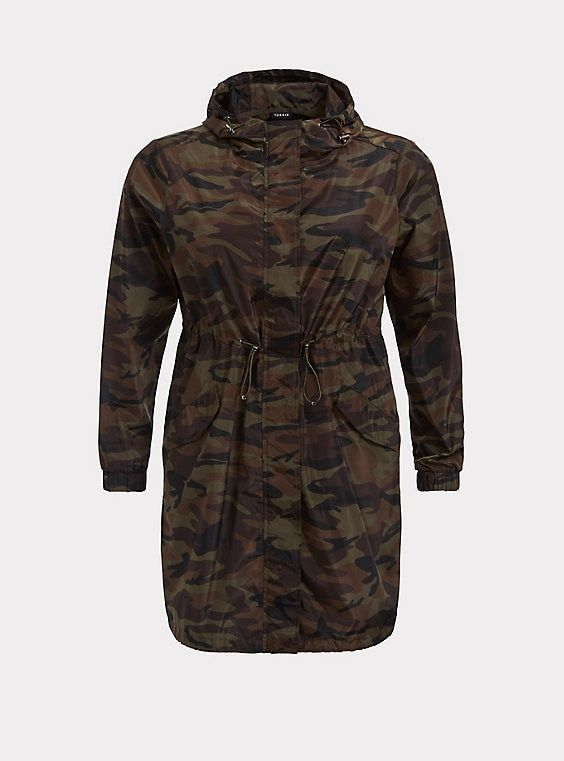 f4898cb1c9 Green Camo Nylon Rain JacketGreen Camo Nylon Rain Jacket