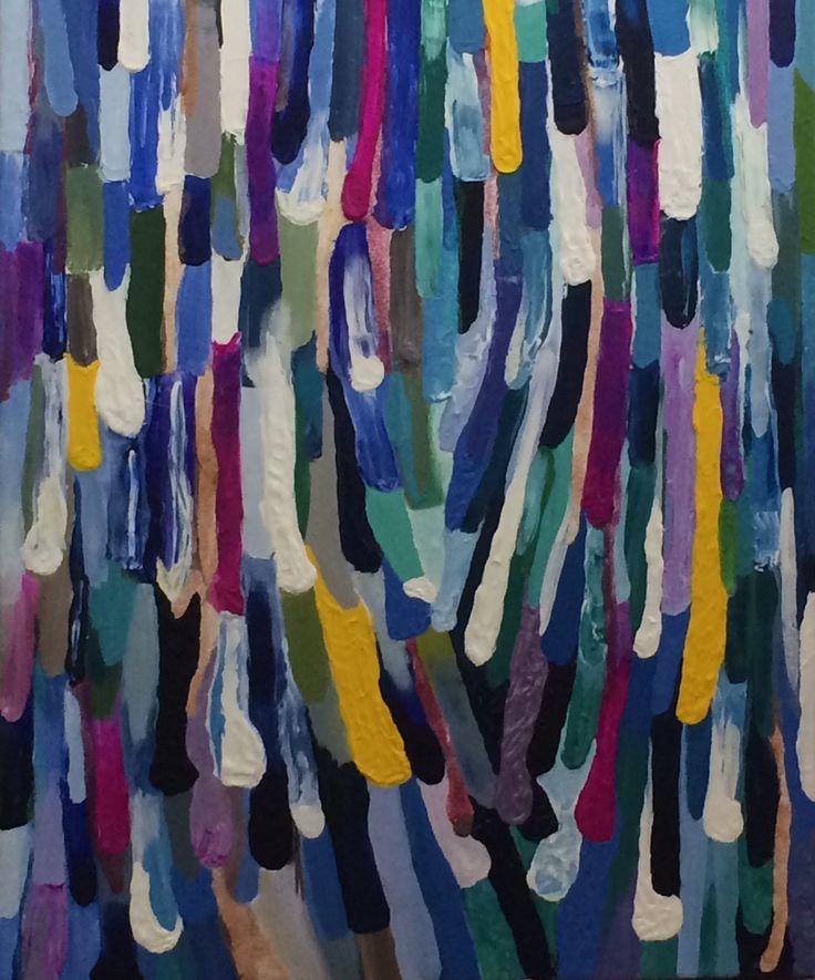 Cockatoo Raindrops  Acrylic, 74.5 x 60