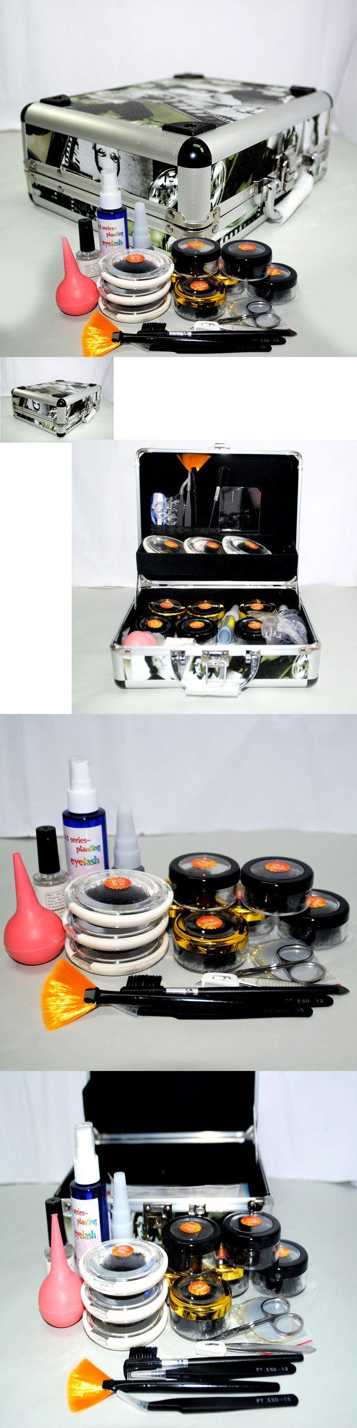 False Eyelashes and Adhesives: Professional False Eyelashes Extension Kit Eye Lash Full Tools Kit Set With Case -> BUY IT NOW ONLY: $35.99 on eBay!