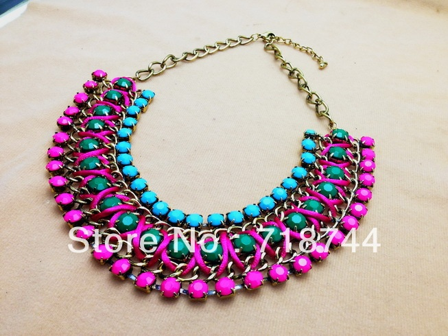 Free Shipping 2013 Fashion Necklace Gorgeous color Beads cup chain  Necklace Statement Necklace on AliExpress.com. $7.99