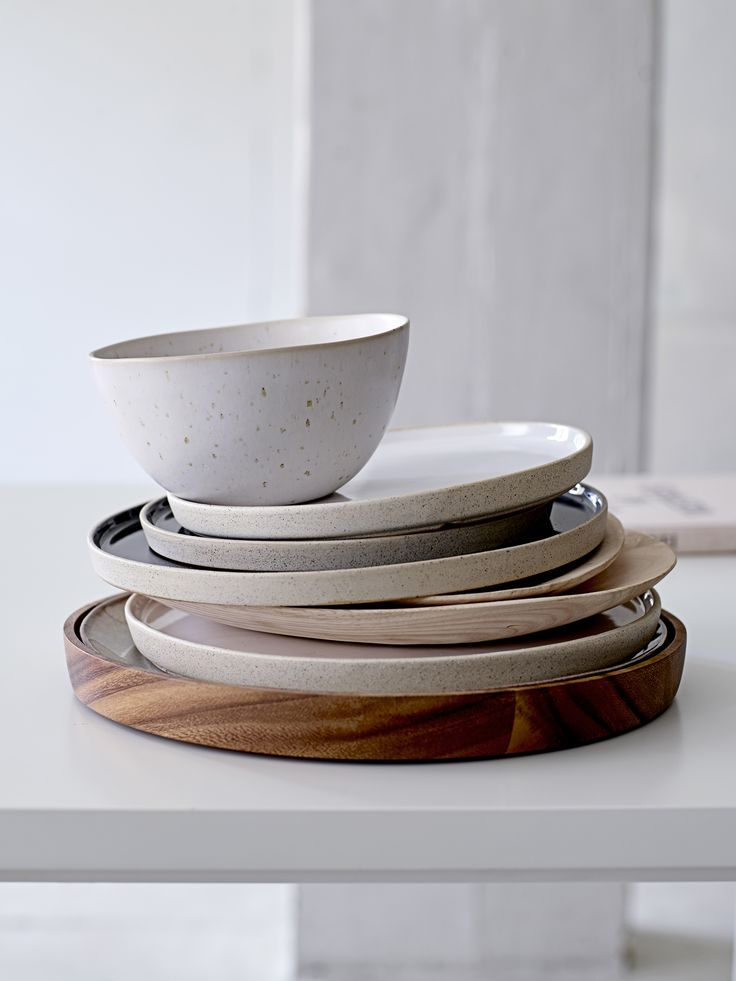 The rustic kitchen <3 Ceramic tableware designed by Bloomingville