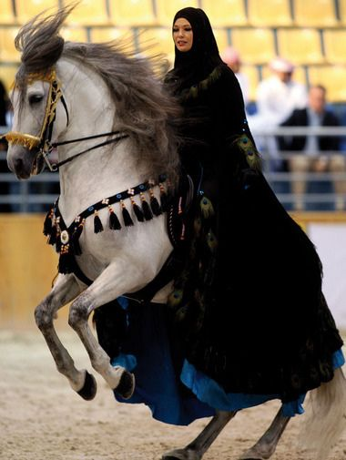Now wouldn't this be an interesting inspiration for a sidesaddle costume. . .