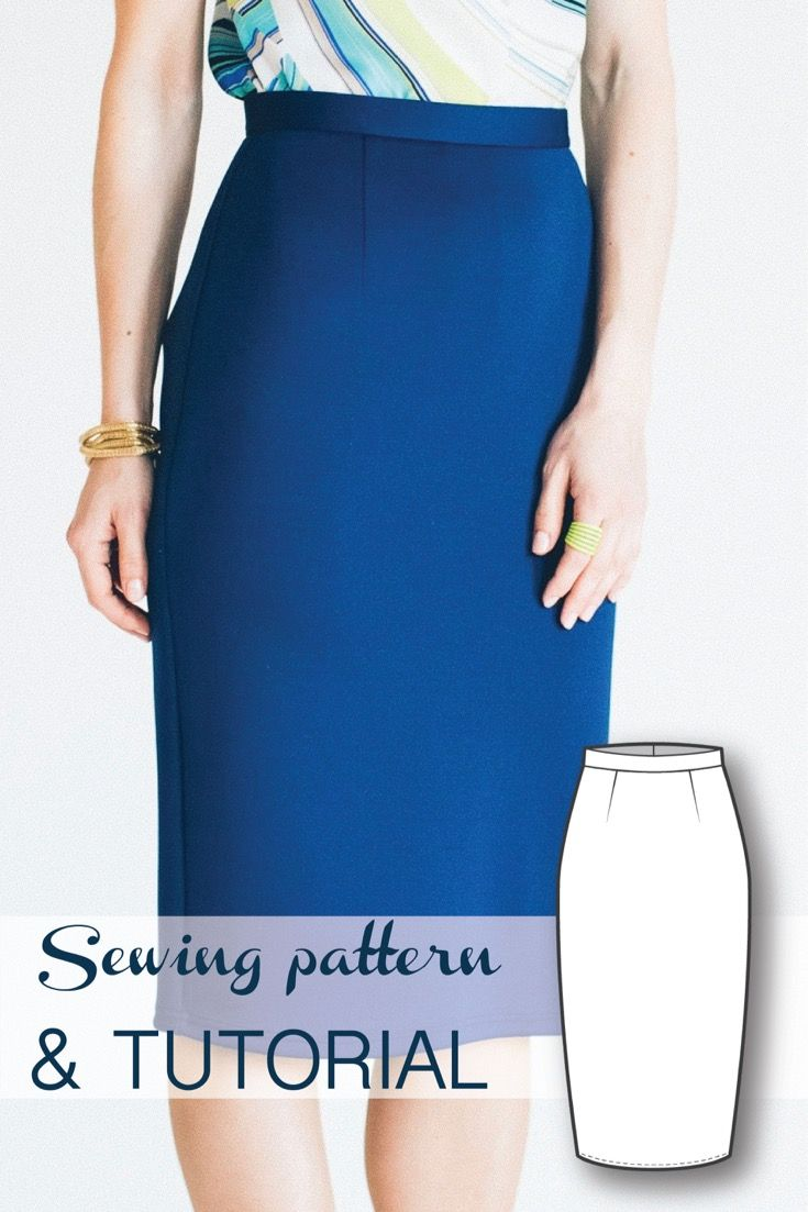 High Waist Pencil Skirt Sewing Pattern and Sewing Tutorial                                                                                                                                                                                 More