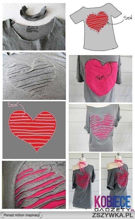cutting a pattern to transform a t-shirt