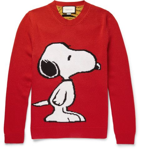 Snoopy Intarsia Wool Sweater - Gucci