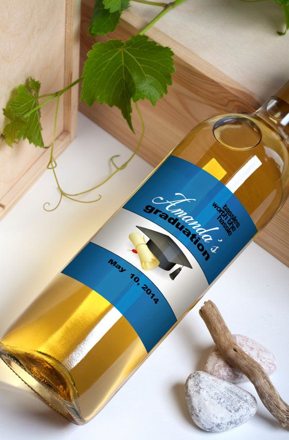 Custom Wine Bottle Labels Personalized College by LiquidCourage, $15.00