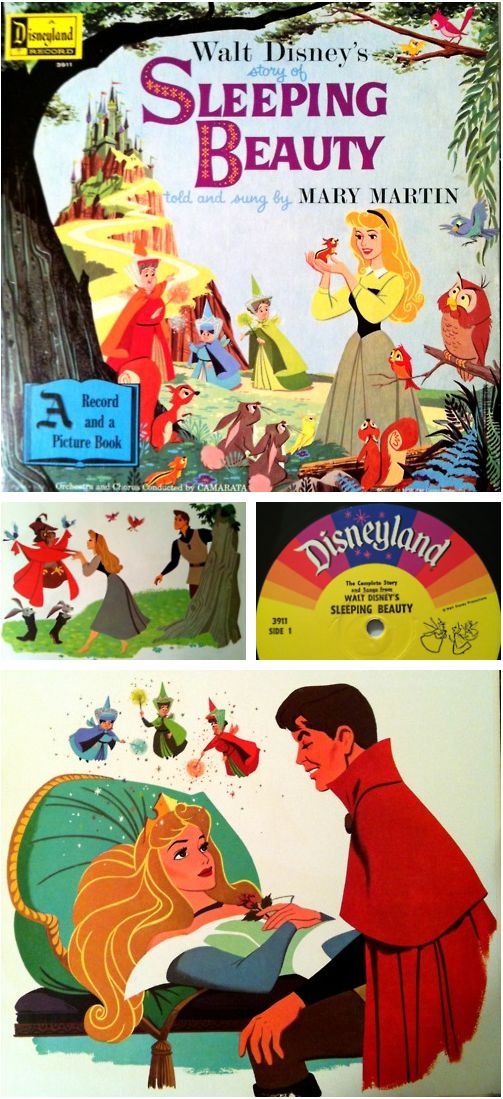 Walt Disney's Sleeping Beauty.  Told and Sung by Mary Martin.  A Disneyland Record.  1958.  #SleepingBeauty