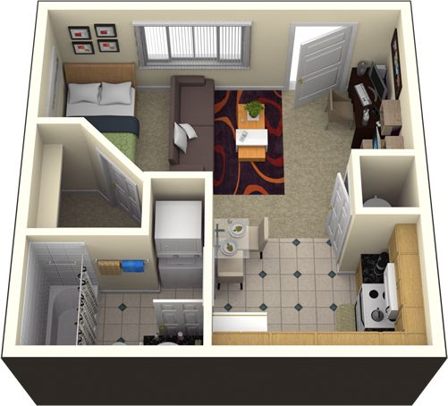 Check out this great student housing floor plan at The Reserve in Columbia, MO