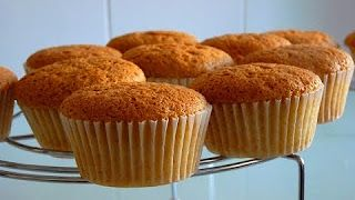 Receta básica de Cupcakes - Como hacer Bizcocho para Cupcakes Fácil - YouTube