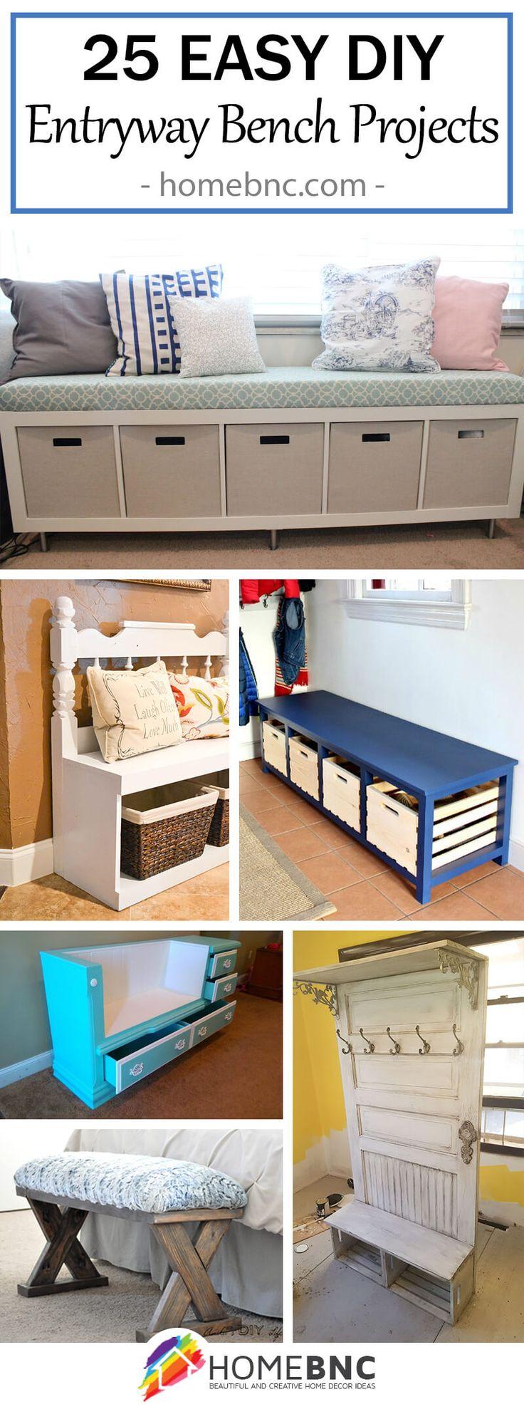 best 25 entryway bench storage ideas on pinterest diy. Black Bedroom Furniture Sets. Home Design Ideas