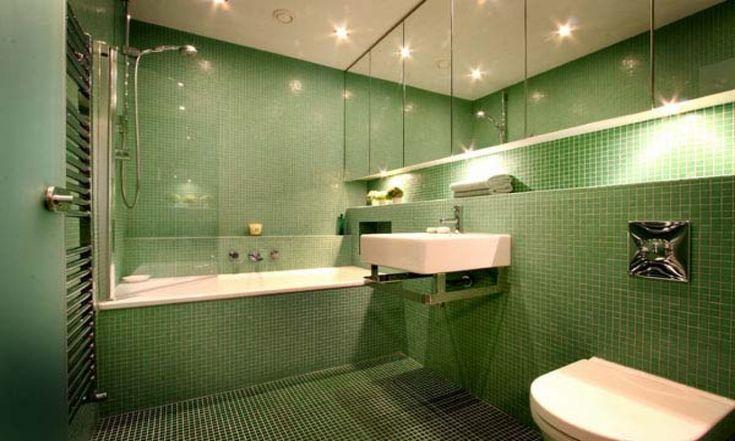 Image result for dark green bathroom