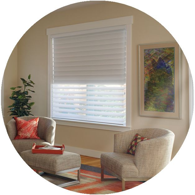 Silhouette® Duolite™ combines a Silhouette shading and a room-darkening roller shade providing many options for light control.