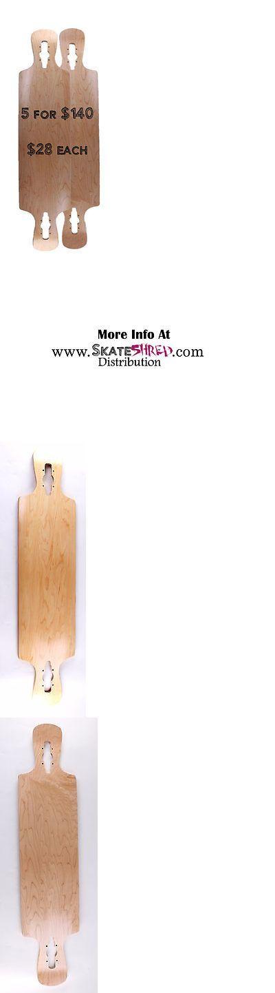 Decks 165944: 5 Blank Longboard Decks: 42 X 10 Drop Through Double Kicktail -> BUY IT NOW ONLY: $140 on eBay!