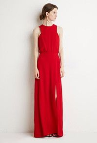 Red Maxi Dress, Forever 21, Kingsway Mall