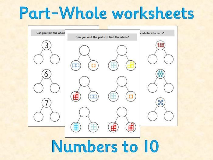 Part Whole Maths Worksheets White Rose Inspired Reception Teaching Resources Math Worksheet Math White Rose Maths