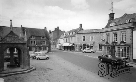 Old photo of The Square c1965, Beaminster