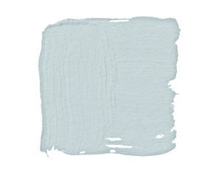 BENJAMIN MOORE GLASS SLIPPER 1632:  grayish blue — the blue of a washed-out sky just after a storm has passed. Almost anything looks great with this blue.