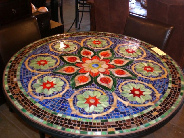 144 Best Mosaic Furniture Images On Pinterest  Mosaic Mosaic Custom Mosaic Dining Room Table Design Inspiration