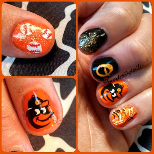 Baltimore Orioles Nails by Leslie