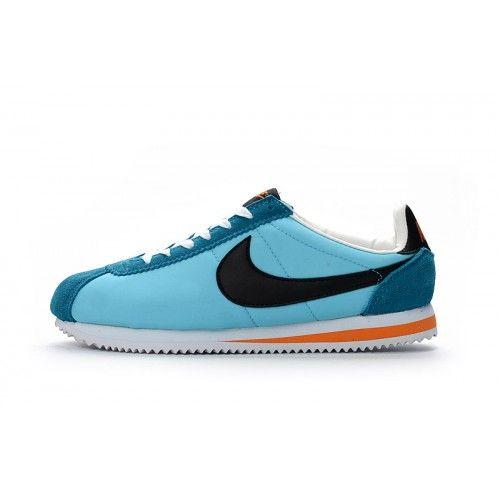 Billig Nike Cortez Herr Dam Bla Orange Svart Loparskor